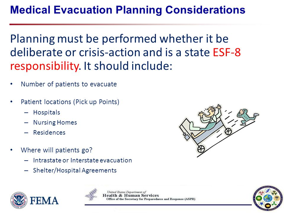 Medical Evacuation Planning Considerations