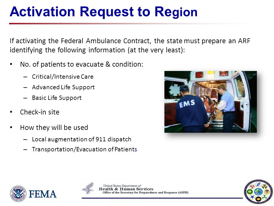 Activation Request to Region