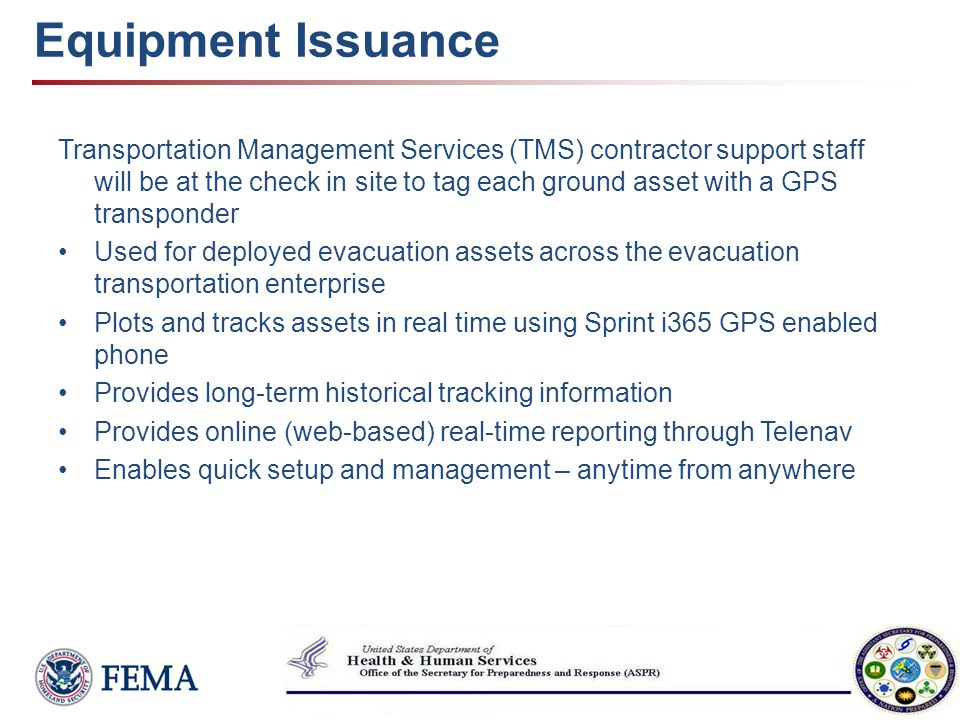 Equipment Issuance