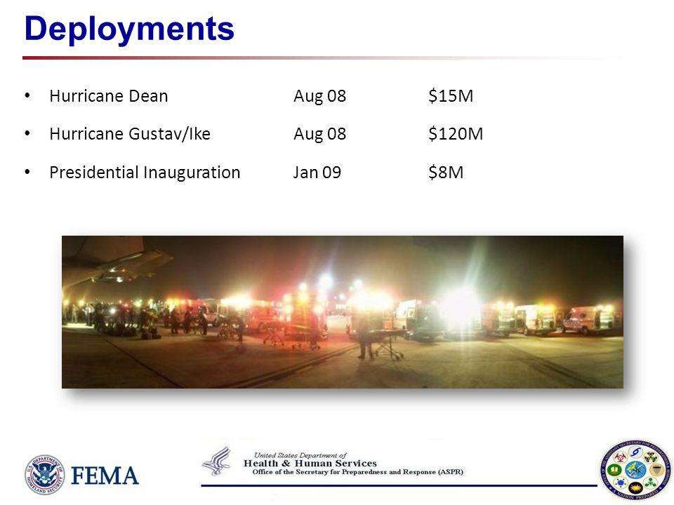 Deployments Hurricane Dean Aug 08 $15M