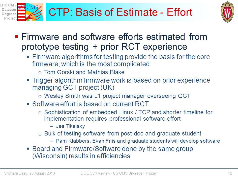 CTP: Basis of Estimate - Effort