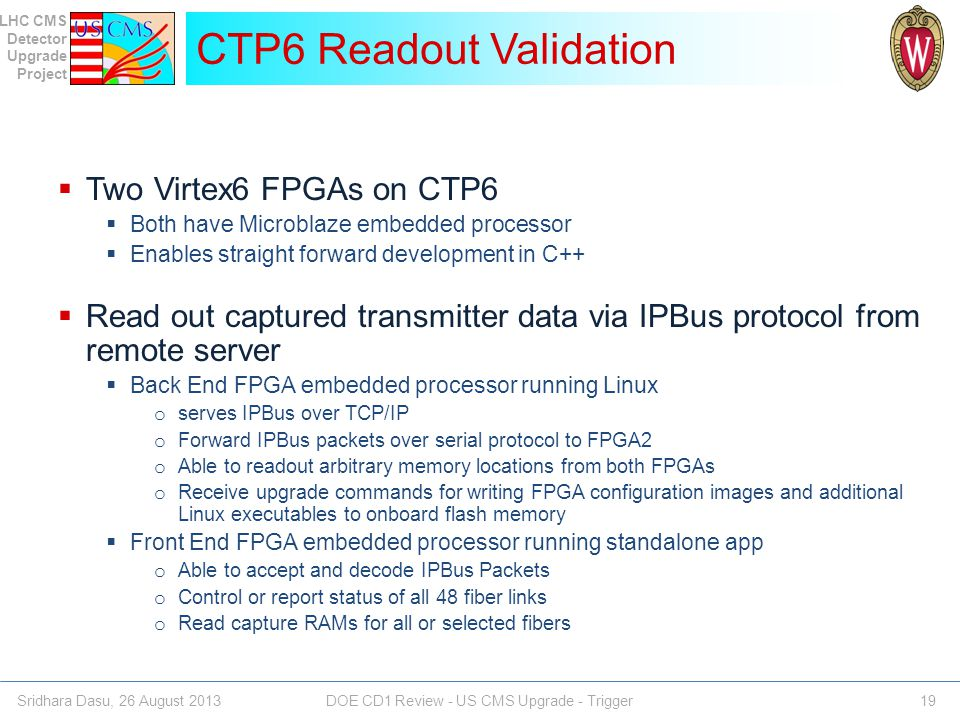 CTP6 Readout Validation