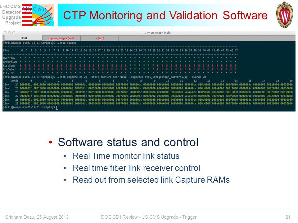 CTP Monitoring and Validation Software