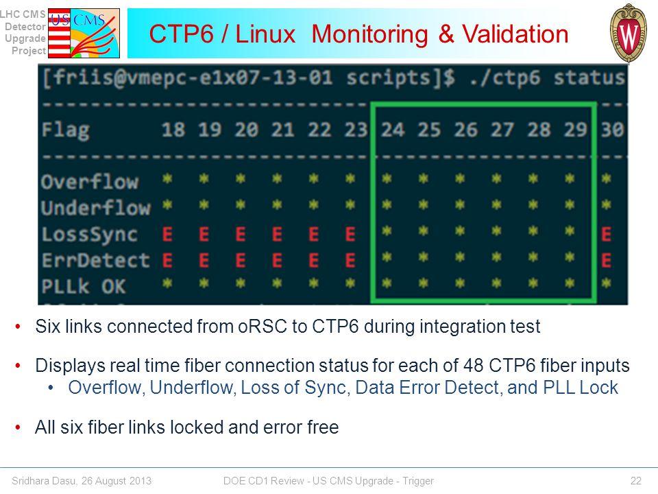CTP6 / Linux Monitoring & Validation