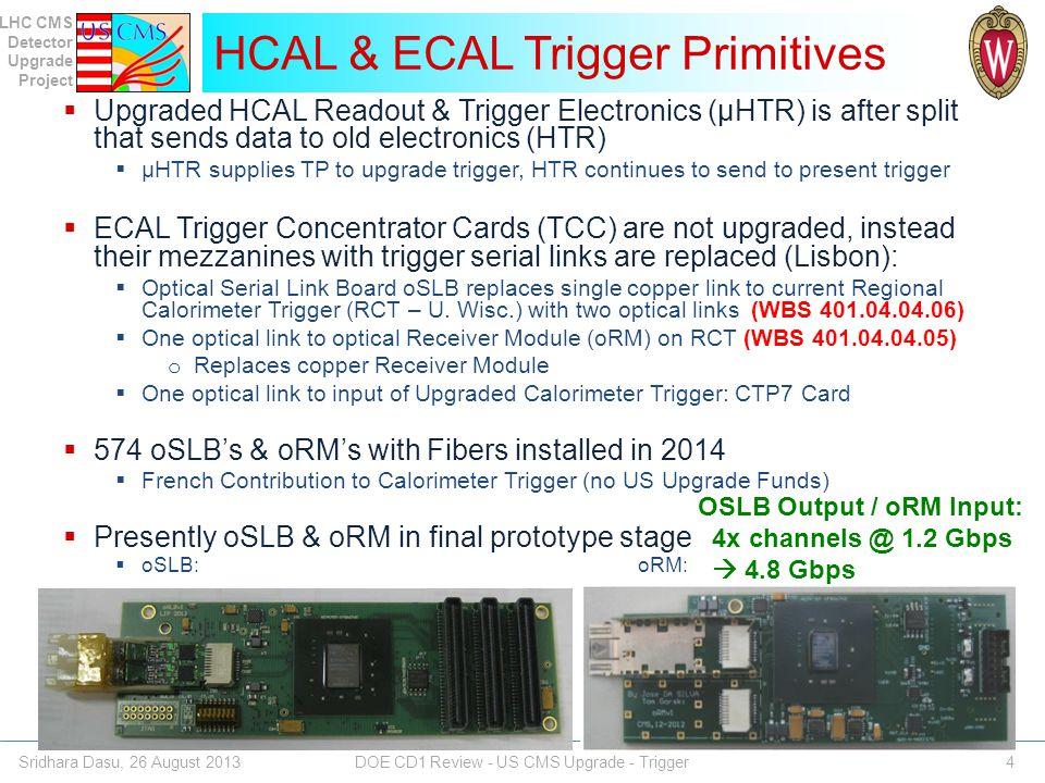HCAL & ECAL Trigger Primitives
