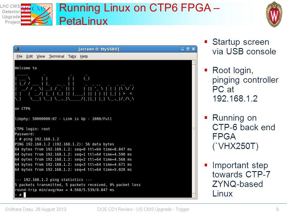 Running Linux on CTP6 FPGA – PetaLinux