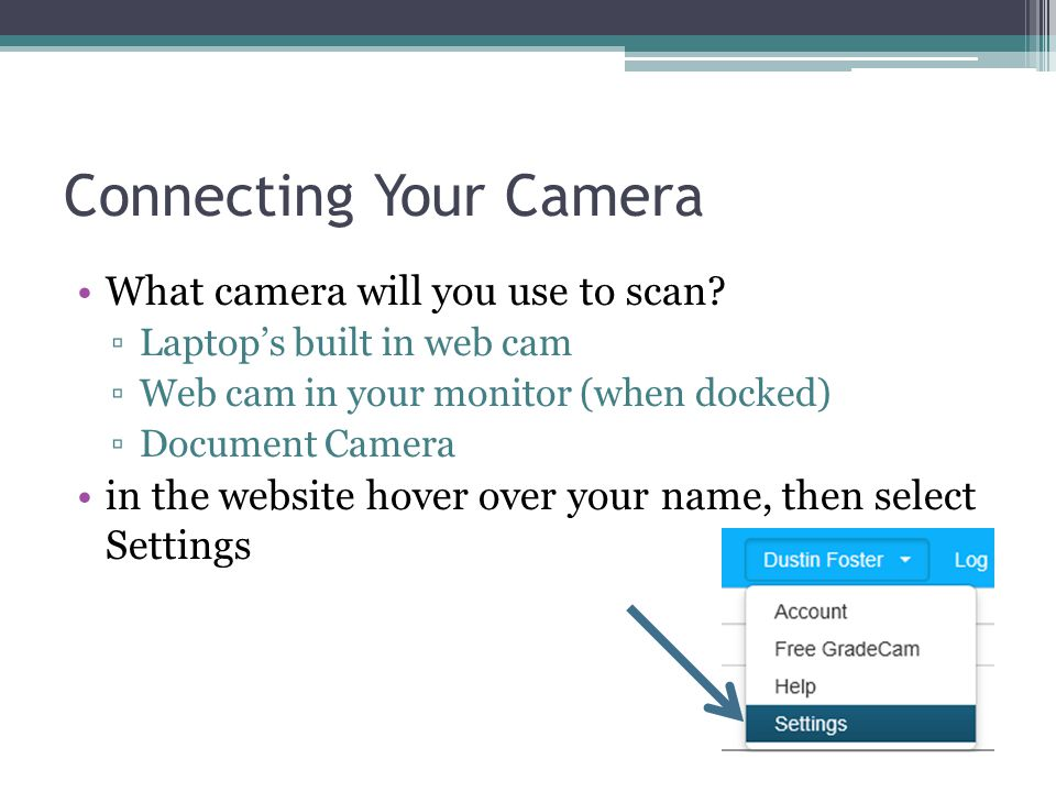 Connecting Your Camera
