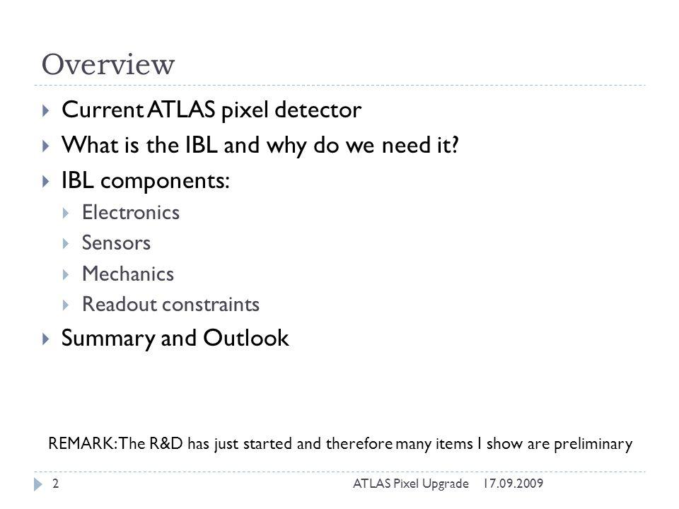 Overview Current ATLAS pixel detector