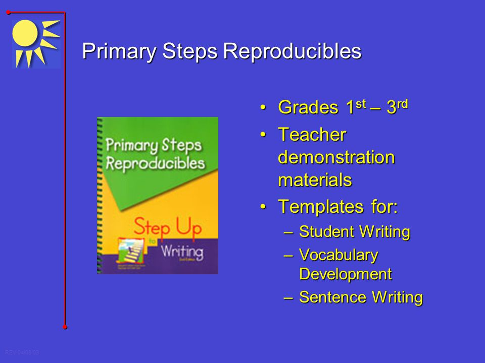 Primary Steps Reproducibles