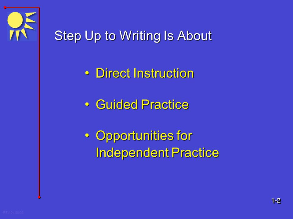 Step Up to Writing Is About