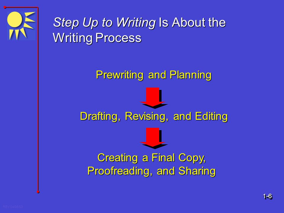 Step Up to Writing Is About the Writing Process
