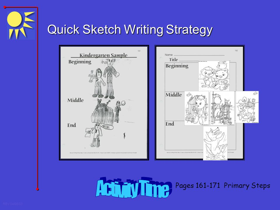 Quick Sketch Writing Strategy