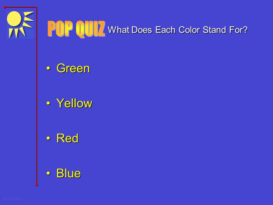 What Does Each Color Stand For