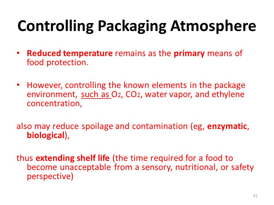 Controlling Packaging Atmosphere