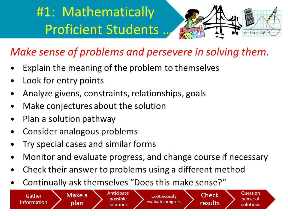 #1: Mathematically Proficient Students …