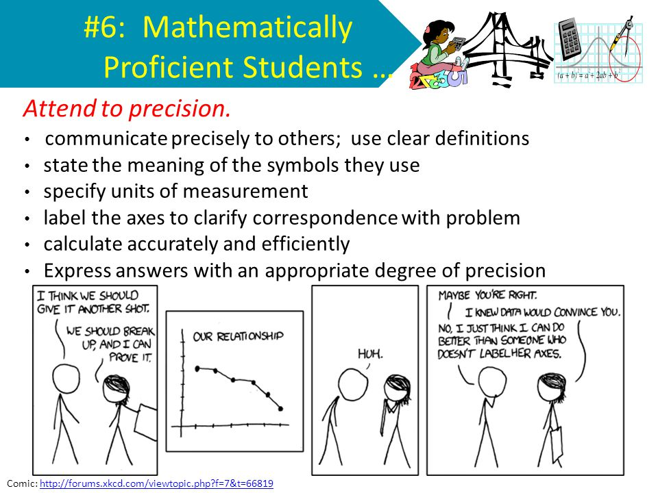 #6: Mathematically Proficient Students …