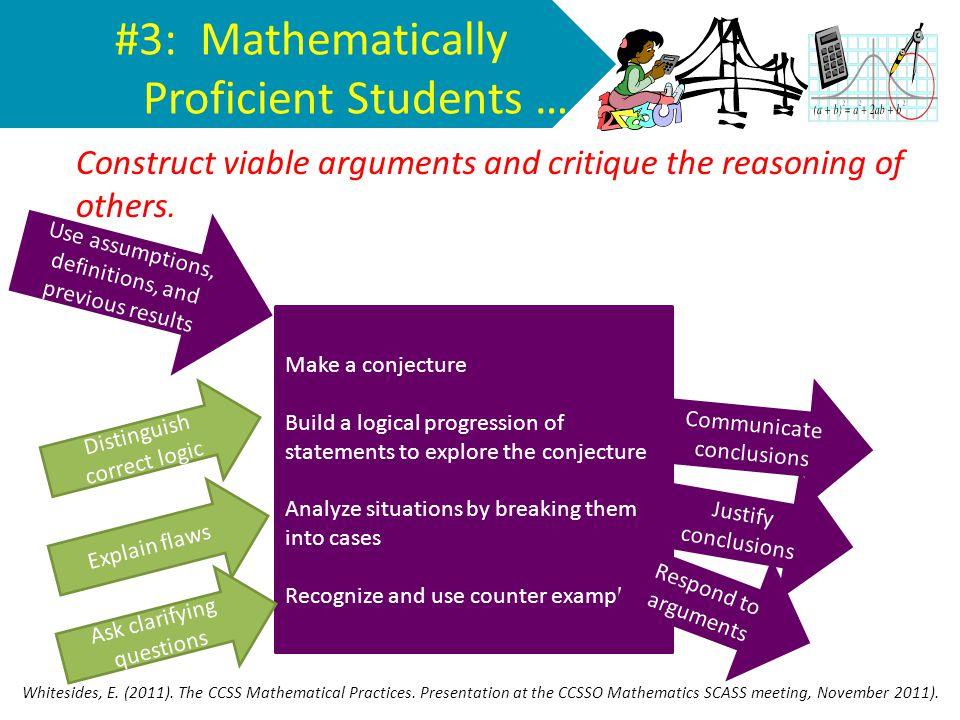 #3: Mathematically Proficient Students …