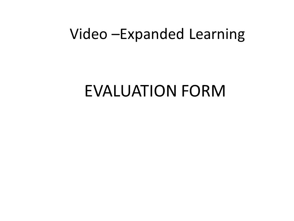 Video –Expanded Learning