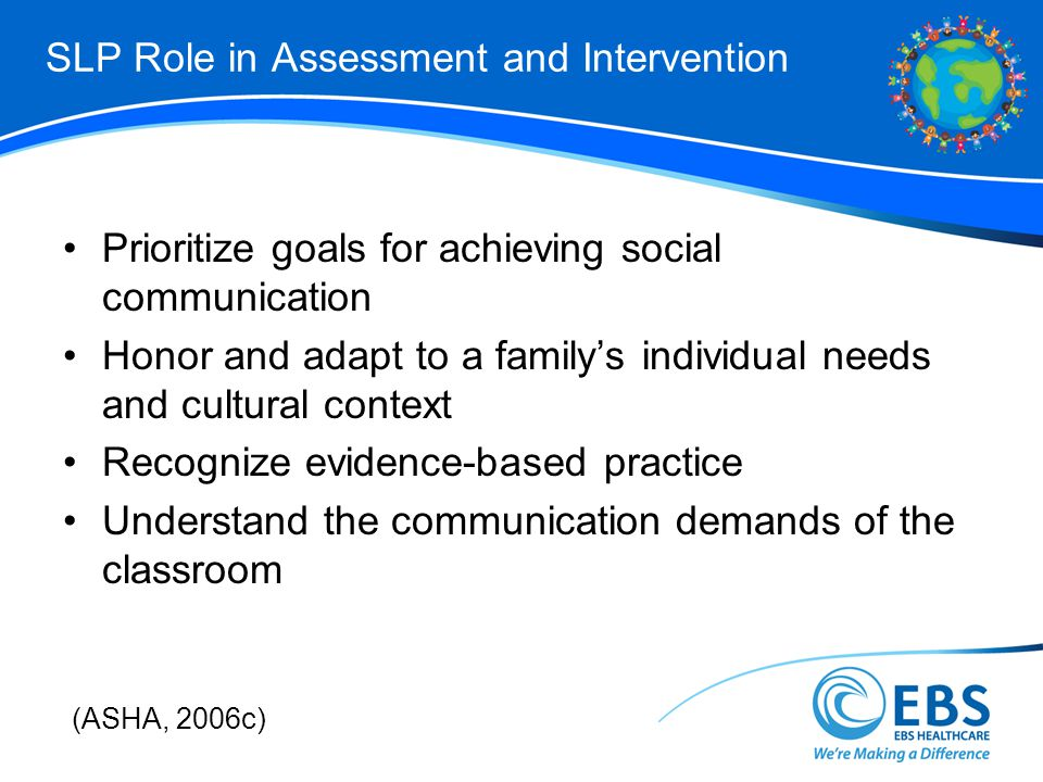SLP Role in Assessment and Intervention