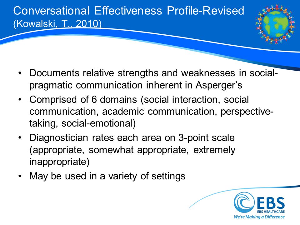 Conversational Effectiveness Profile-Revised (Kowalski, T., 2010)