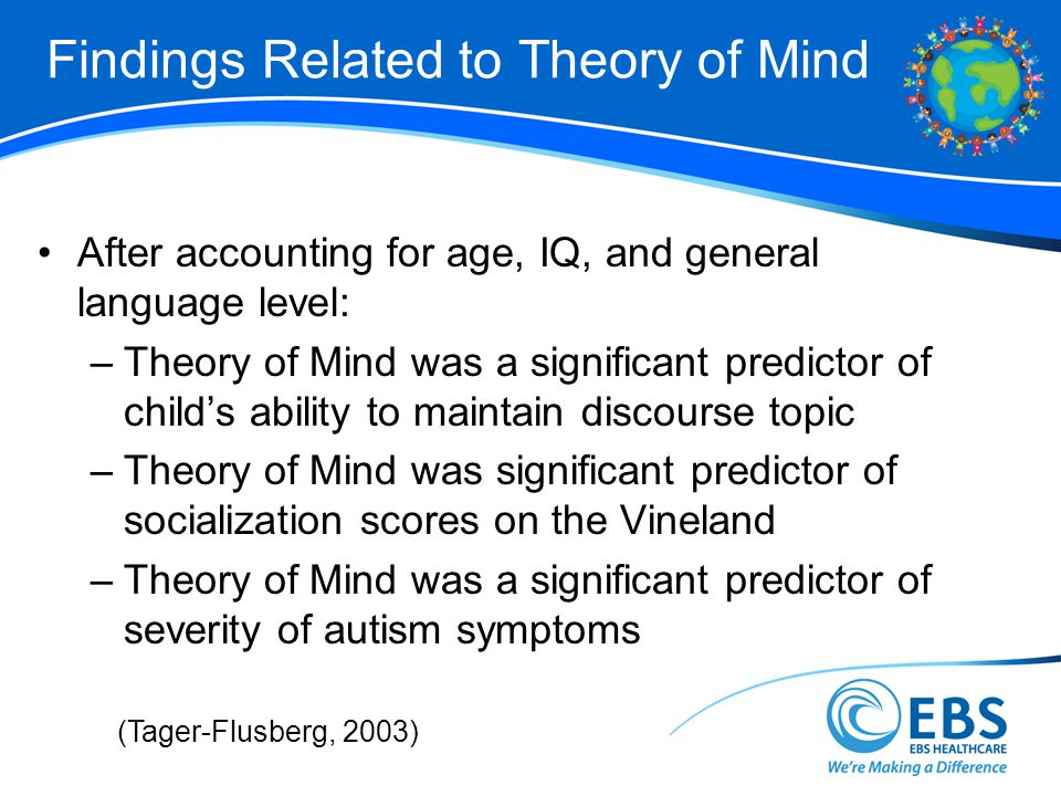 Findings Related to Theory of Mind