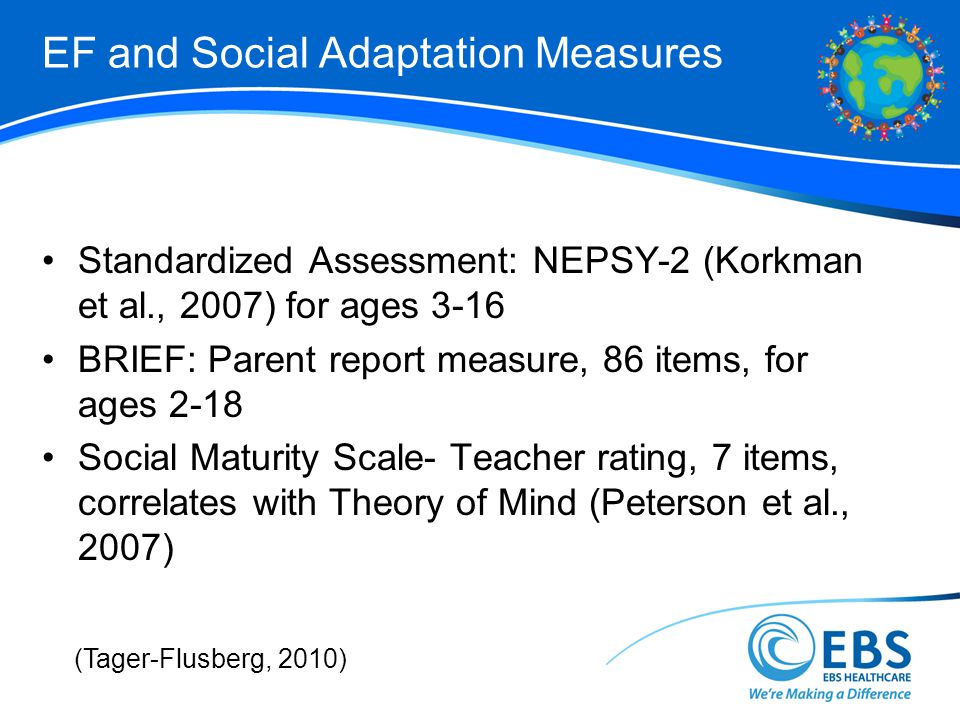 EF and Social Adaptation Measures