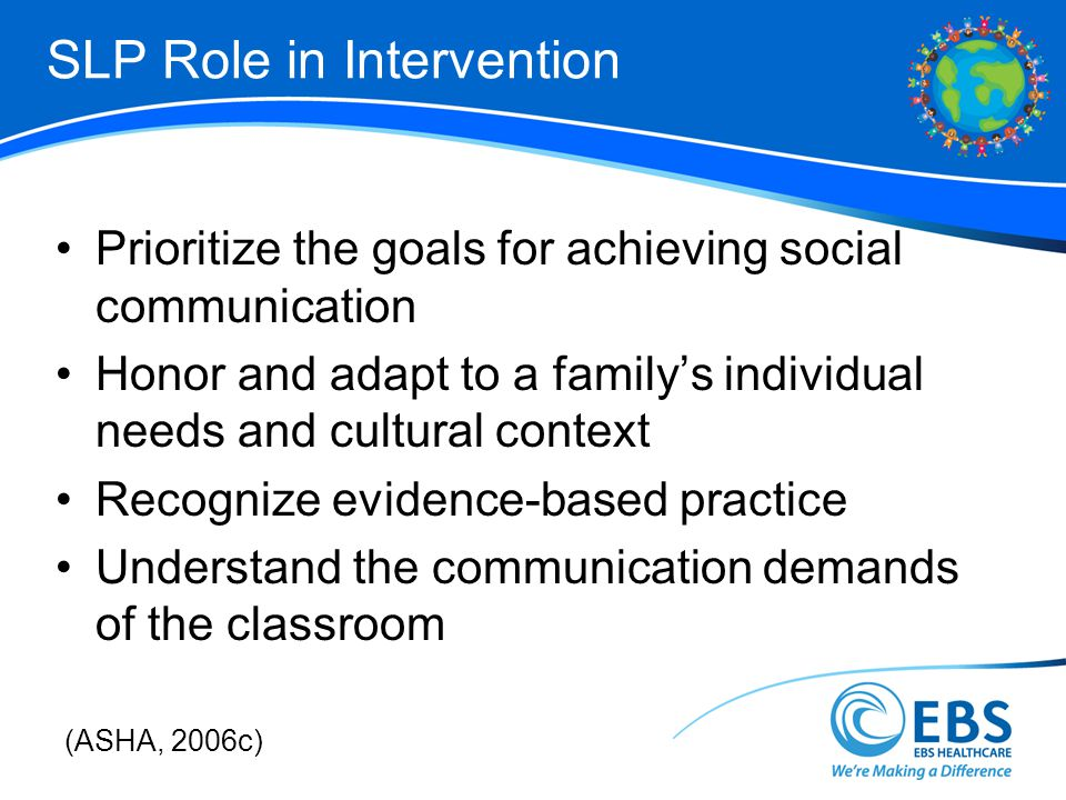 SLP Role in Intervention