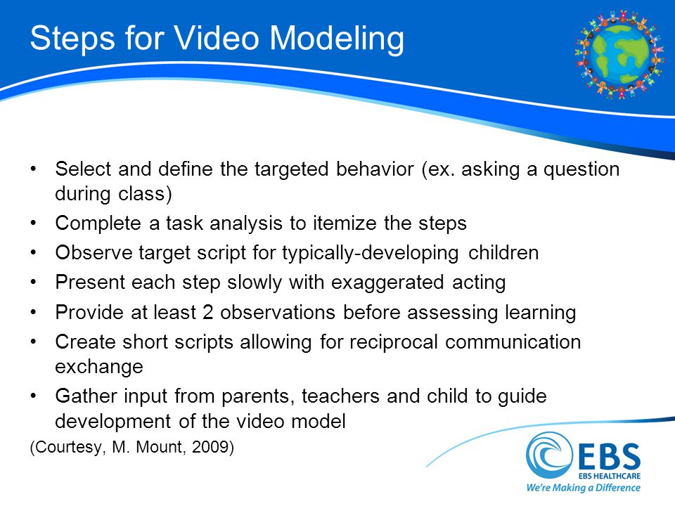 Steps for Video Modeling