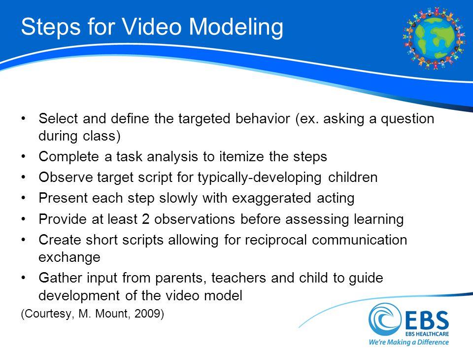 Steps for Video Modeling