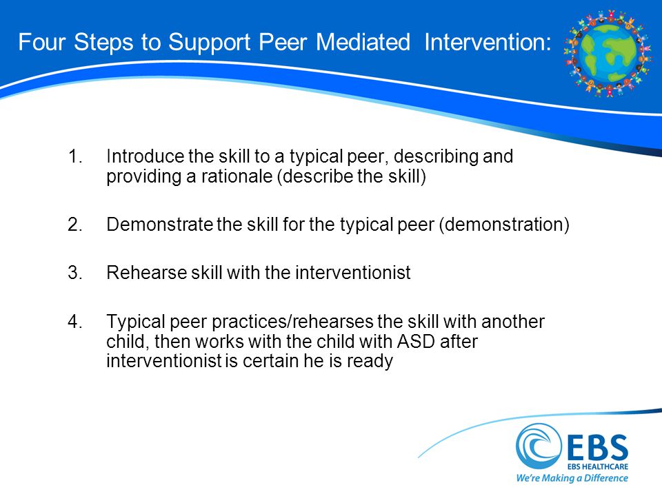 Four Steps to Support Peer Mediated Intervention: