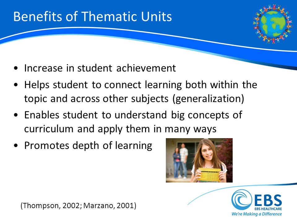 Benefits of Thematic Units