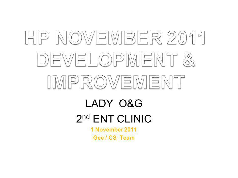 HP NOVEMBER 2011 DEVELOPMENT & IMPROVEMENT