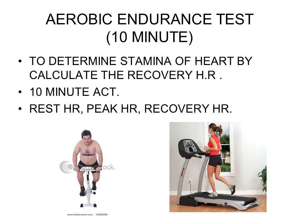 AEROBIC ENDURANCE TEST (10 MINUTE)