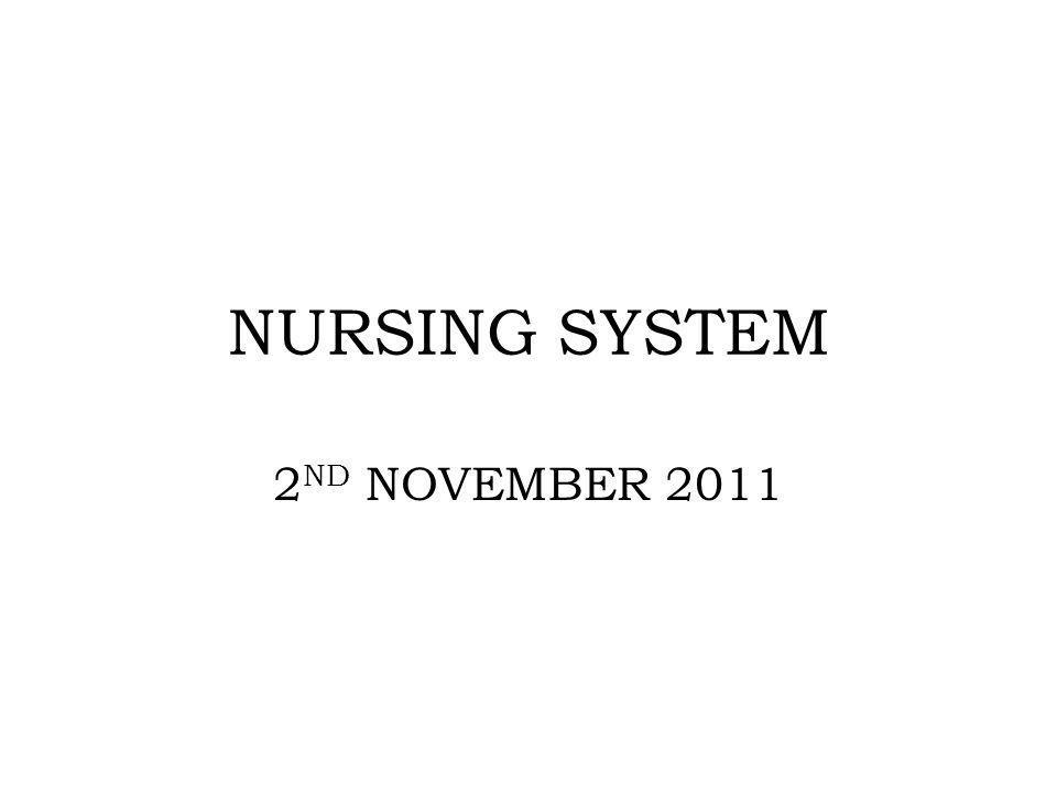 NURSING SYSTEM 2ND NOVEMBER 2011