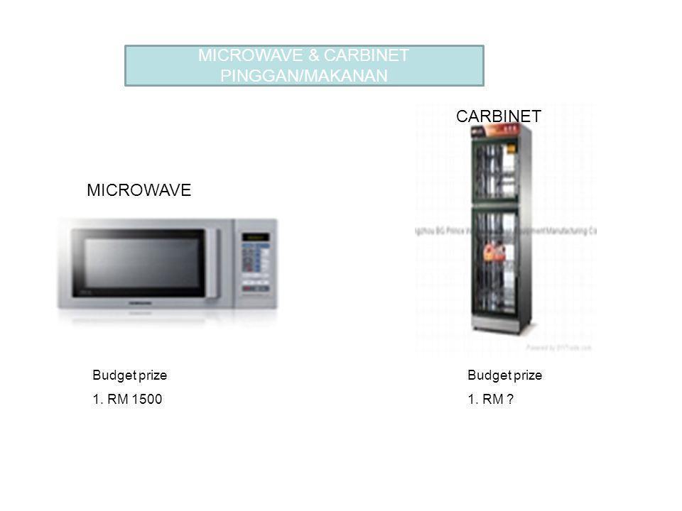 MICROWAVE & CARBINET PINGGAN/MAKANAN