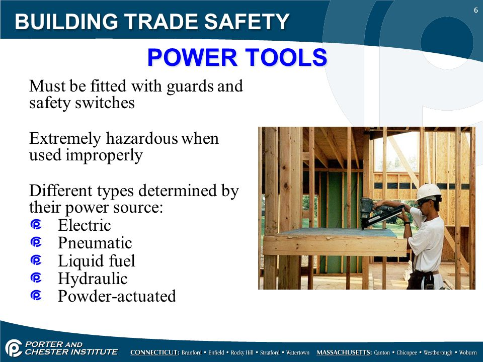 POWER TOOLS BUILDING TRADE SAFETY