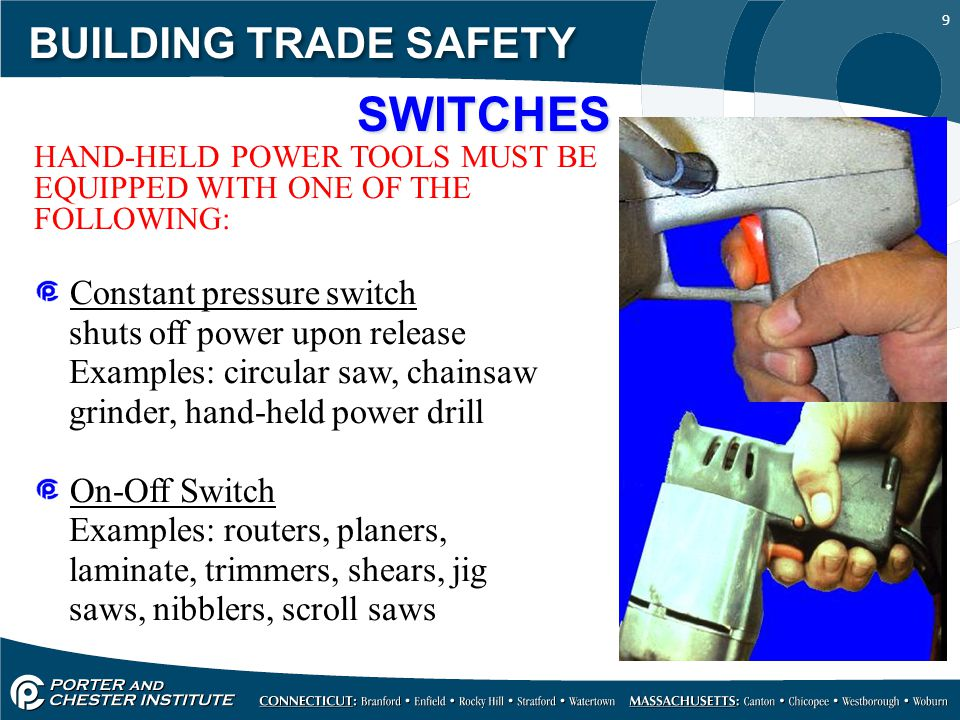 SWITCHES BUILDING TRADE SAFETY Constant pressure switch