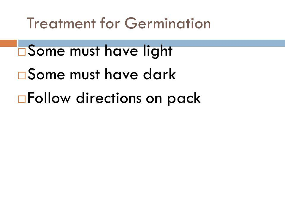 Treatment for Germination