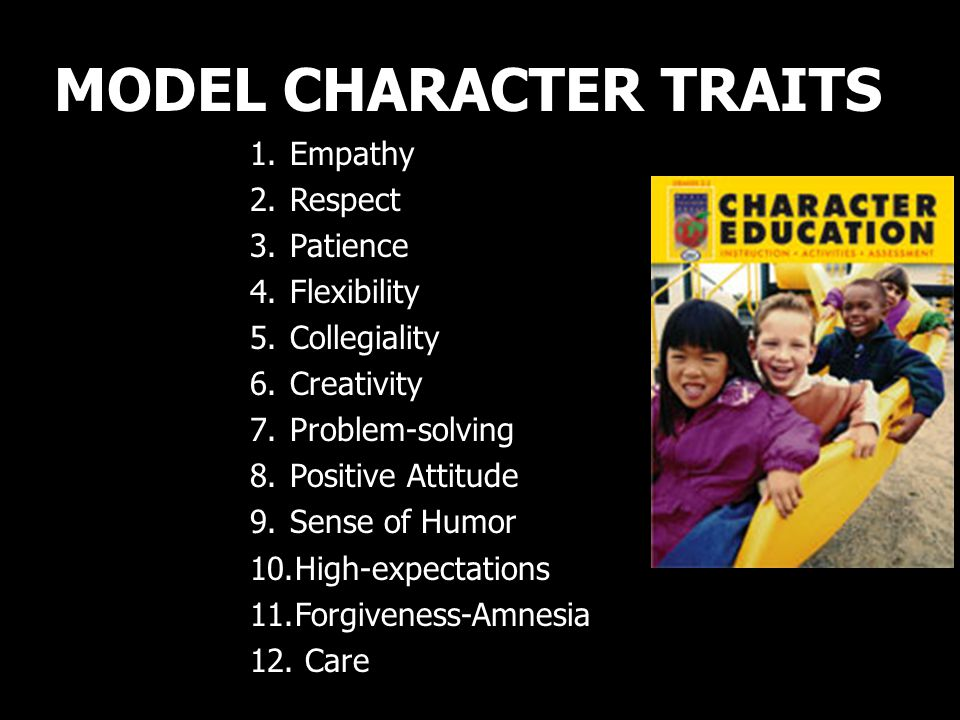 MODEL CHARACTER TRAITS
