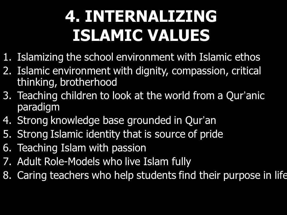 4. INTERNALIZING ISLAMIC VALUES