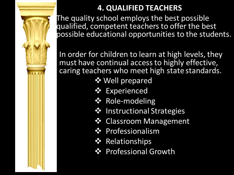 4. QUALIFIED TEACHERS