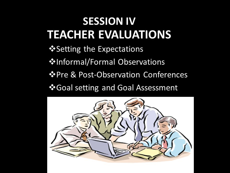 TEACHER EVALUATIONS SESSION IV Setting the Expectations