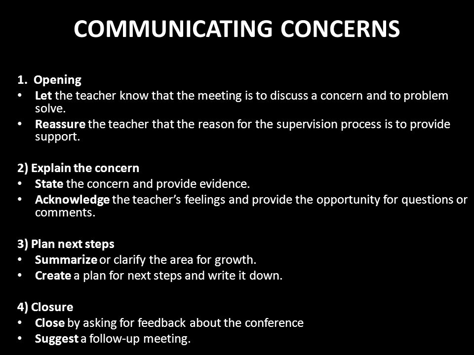 COMMUNICATING CONCERNS