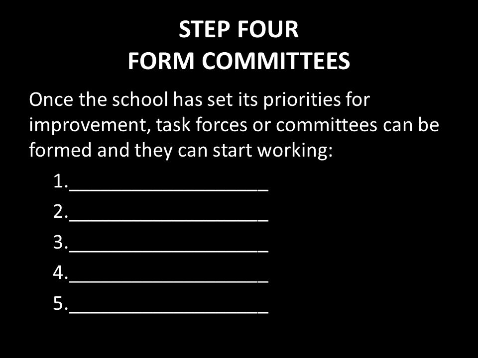 STEP FOUR FORM COMMITTEES