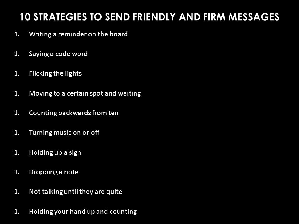 10 STRATEGIES TO SEND FRIENDLY AND FIRM MESSAGES