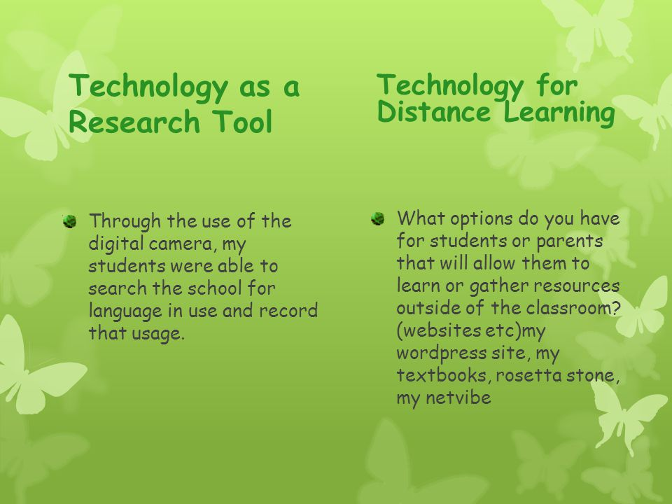 Technology as a Research Tool