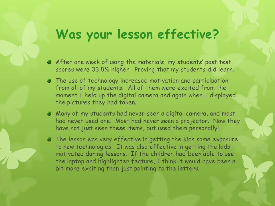 Was your lesson effective