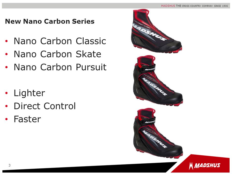 Nano Carbon Classic Nano Carbon Skate Nano Carbon Pursuit Lighter