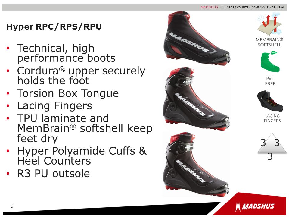 Technical, high performance boots