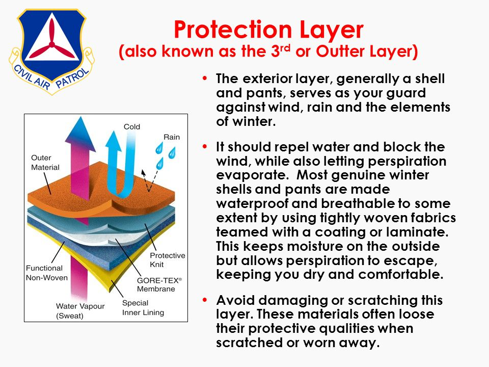 Protection Layer (also known as the 3rd or Outter Layer)